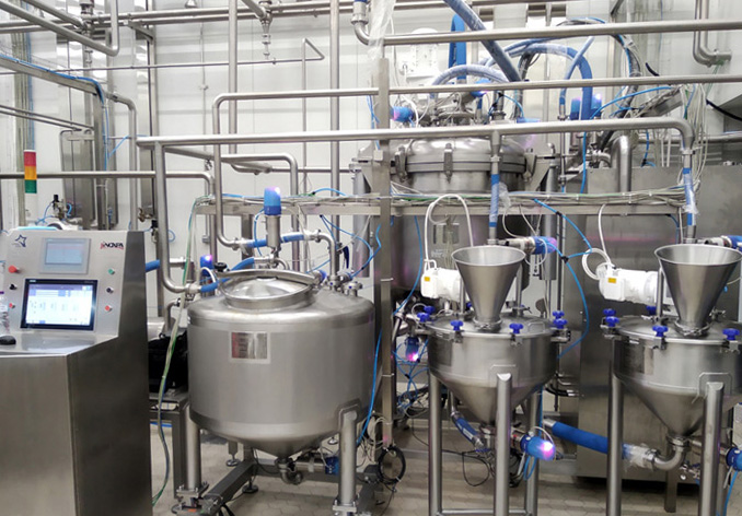 Anlæg til batchproduktion af mayonnaise